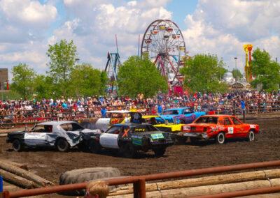 Demolition Derby at the Summer Fair