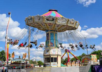 Enjoying the swings ride
